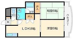 竹宏シティライフ[4階]の間取り
