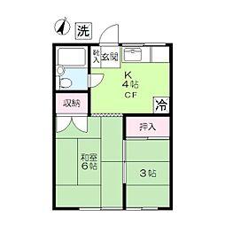 香林荘[1階]の間取り