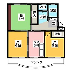 ピュアコーポA[4階]の間取り