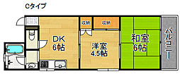 粋緑館[3階]の間取り