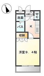 広島県福山市新涯町3丁目の賃貸マンションの間取り