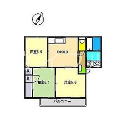シャーメゾン・高座 A棟[2階]の間取り