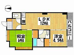 兵庫県神戸市垂水区歌敷山3丁目の賃貸マンションの間取り