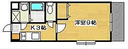 カウベルⅠ[3階]の間取り