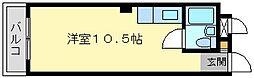 福岡県北九州市小倉北区馬借3丁目の賃貸マンションの間取り