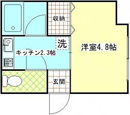 クレスト1階Fの間取り画像
