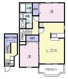 グランデージュMK[2階]の間取り