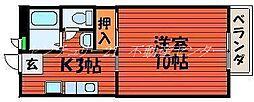 岡山県岡山市北区川入の賃貸アパートの間取り