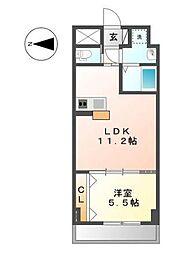 グランディール横濱[6階]の間取り