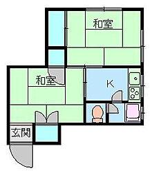 福島ビル[302号室]の間取り