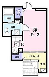JR予讃線 丸亀駅 徒歩23分の賃貸アパート 1階1Kの間取り