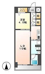レジディア白壁[7階]の間取り