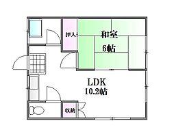 松島荘[1階]の間取り