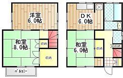 [一戸建] 神奈川県伊勢原市上粕屋 の賃貸【/】の間取り