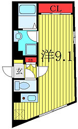 THE RESIDENCE toshima-chihaya 4階ワンルームの間取り
