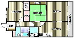 パークヒルズ千代田[4階]の間取り