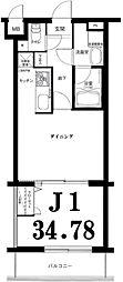 神奈川県横浜市神奈川区松見町4丁目の賃貸マンションの間取り
