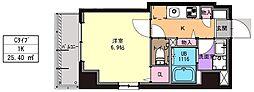 JR京浜東北・根岸線 川崎駅 徒歩11分の賃貸マンション 3階1Kの間取り