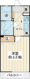 JR京葉線 新浦安駅 徒歩16分の賃貸アパート 2階1Kの間取り