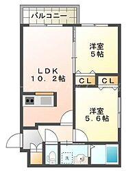 北海道札幌市東区北二十三条東18丁目の賃貸マンションの間取り