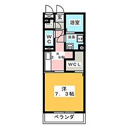 愛知県名古屋市中村区岩塚町1丁目の賃貸アパートの間取り