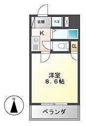 マザック新栄[4階]の間取り