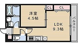 KTIレジデンス阿倍野[301号室]の間取り