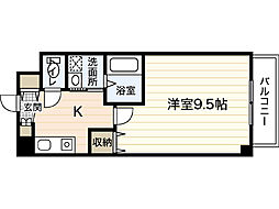 ノーブルハイム岡山[5階]の間取り