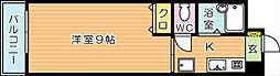 ベルベーヌ八幡[7階]の間取り