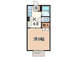 静岡県沼津市松長の賃貸アパートの間取り