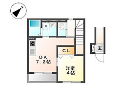神奈川県横浜市南区永田東2丁目の賃貸アパートの間取り