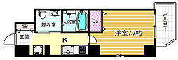 JR大阪環状線 福島駅 徒歩8分の賃貸マンション 3階1Kの間取り