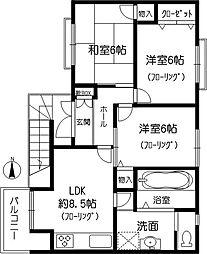 箕面エスペランサII B棟[2階]の間取り