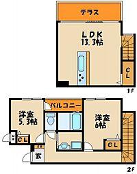 ビー・エターナル[2階]の間取り