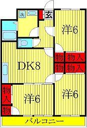 セナリオコート増尾イーストB[2階]の間取り