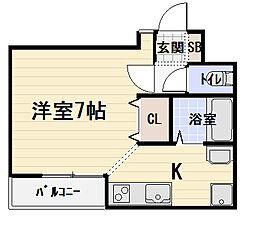 ビューロイヤル[2階]の間取り