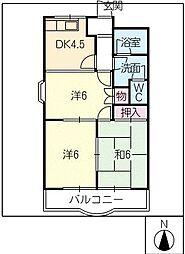 クィーンズコートA棟[2階]の間取り