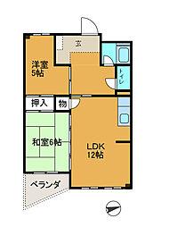 相模大野駅前共同ビル[3階]の間取り
