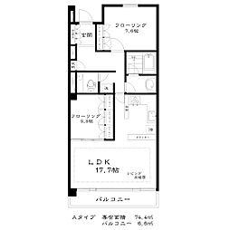 東京都武蔵野市御殿山2丁目の賃貸マンションの間取り