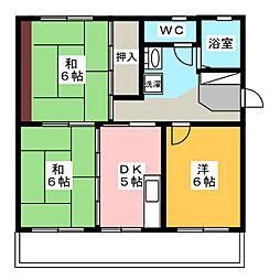 サウスステーション[3階]の間取り