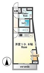スカールFUJI[4階]の間取り