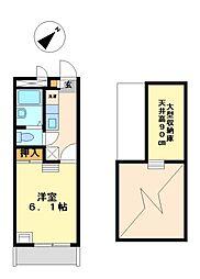 兵庫県相生市那波の賃貸アパートの間取り