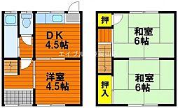 [タウンハウス] 岡山県岡山市東区瀬戸町下 の賃貸【/】の間取り