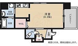 ルービンス宇品神田 11階1Kの間取り