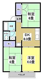 セジュール小池[2階]の間取り