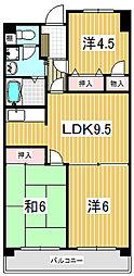 清水山第1パークハイツ[02070号室]の間取り