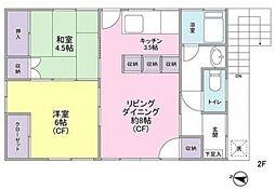 [一戸建] 東京都大田区池上4丁目 の賃貸【/】の間取り