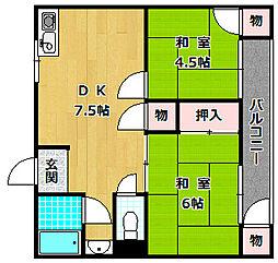 塚本マンション[2階]の間取り