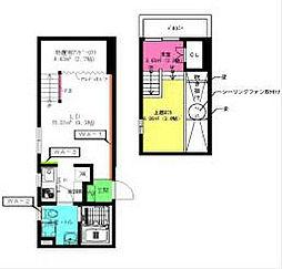 名古屋市営東山線 中村日赤駅 徒歩5分の賃貸アパート 1階1LDKの間取り
