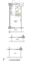 ザ・パークハビオ三軒茶屋テラス[3階]の間取り